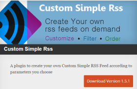 Custom Simple RSS – WordPress Plugin by Danikoo